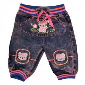 """Бриджи джинсовые для девочки """"Hello Kitty"""" от 700 руб"""