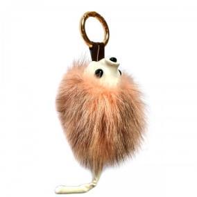 """Меховой брелок """"Ежик с хвостиком"""" (натуральный мех - норка) на сумку -04 от 480 руб"""