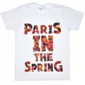 """Футболка детская """"Paris in the spring"""" для девочки (белый) от 240 руб"""