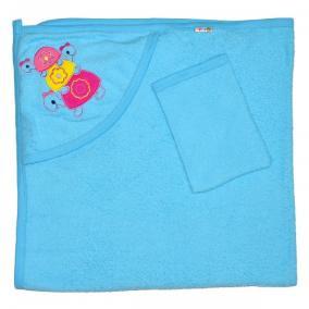 """Детское полотенце с капюшоном, махровое """"Черепашки"""" от 760 руб"""