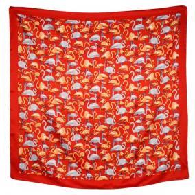 """Платок женский, шелковый """"Фламинго"""" (красный) от 350 руб"""