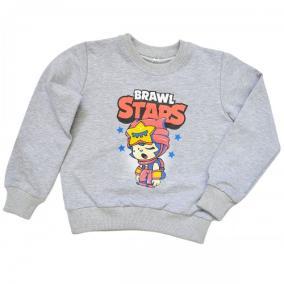 "Свитшот детский ""Brawl Stars - Sandy"" для девочки (светло-серый) от 780 руб"