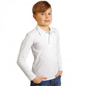"""Поло подростковая """"Fresh"""" с длинным рукавом (белый) от 545 руб"""
