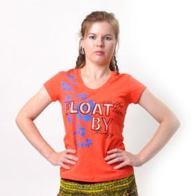"Футболка женская ""Float By"" (orange) от 330 руб"