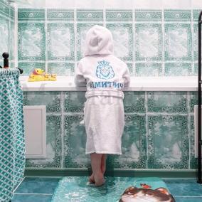 Детский махровый халат с вышивкой от 2 990 руб