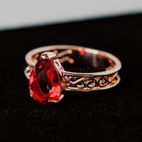 """Кольцо """"Рубиновые капли"""" с кристаллами Swarovski от 1 350 руб"""