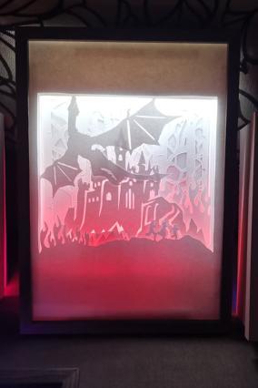 "Ночник картина из бумаги с подсветкой ""Дракон"" от 2 790 руб"