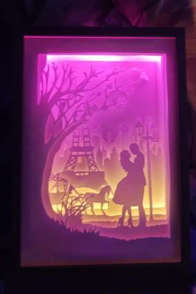 """Ночник картина из бумаги с подсветкой """"Эйфелева башня """" от 2 790 руб"""