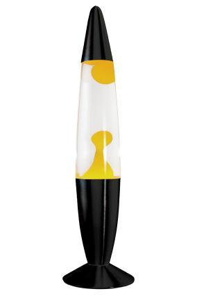 Лава-лампа, 48 см, жёлтая/прозрачная (Воск) Black от 3 290 руб