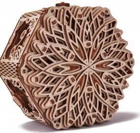 Механическая шкатулка из дерева Wood Trick «Таинственный цветок» от 3 390 руб
