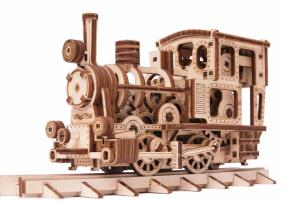 Механическая сборная модель Wood Trick «Паровозик с рельсами» от 2 590 руб