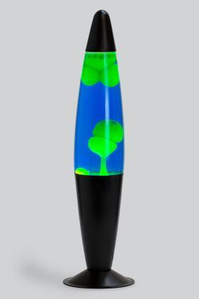 Лава-лампа 41см Желтая/Синяя (Воск) Black от 2 349 руб
