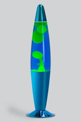 Лава-лампа 41см Желтая/Синяя (Воск) Хром от 2 349 руб