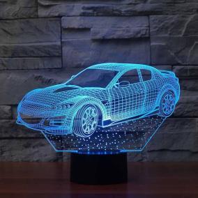 """Светодиодный 3D ночник """"Машина"""" ST, 7 цветов от 890 руб"""