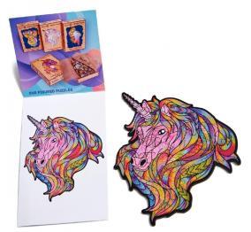 Деревянный пазл Wood Trick «Единорог: Розовое Небо» 16x17 см от 539 руб