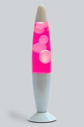 Лава-лампа, 35 см, белая/розовая (Воск) White от 1 849 руб