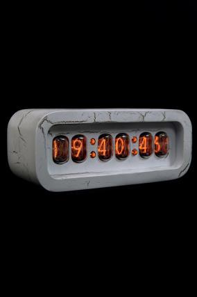 Ламповые ретро часы - деревянные (белые) от 11 490 руб