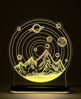 """3D-светильник """"Солнечная система"""" (21*20 см) от 2 790 руб"""