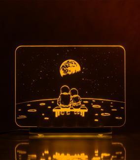 "3D-светильник ""Луна. Романтика (21*17 см) от 2 590 руб"
