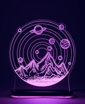 """3D светильник """"Солнечная система"""" (29*22 см) от 3 490 руб"""