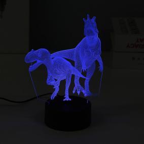 """3D ночник """"Динозавры"""", 3 цвета от 690 руб"""