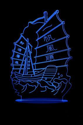 """3D ночник """"корабль Джонка"""", 3 цвета от 690 руб"""