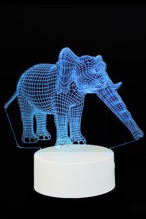 """3D светильник """"Слон"""" 3 цвета от 690 руб"""