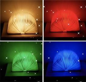 Светильник книга Lumobook (грецкий орех) RGB+Bluetooth+ДУ (19*15см) от 3 490 руб