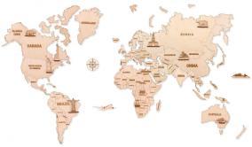 Механическая сборная модель Wood Trick Карта мира L от 4 890 руб