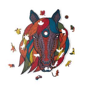 Деревянный пазл Артвентура Лошадь тотем, 53х22 см, 229 деталей от 3 590 руб