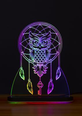 """3D-светильник """"Хранитель ключа. Сова"""" (21*17 см) от 2 790 руб"""