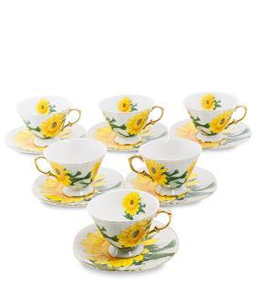 """Чайный сервиз """"Жёлтые подсолнухи"""", (на 6 персон) от 7 100 руб"""