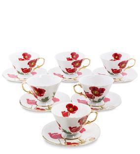 """Чайный сервиз """"Красные маки"""", (на 6 персон) от 7 100 руб"""