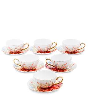 """Чайный сервиз """"Цветочный пассаж"""" (на 6 персон) от 7 100 руб"""
