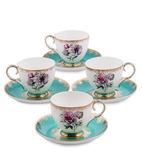 """Чайный сервиз """"Цветочное кружево"""" (на 4 персоны) от 6 300 руб"""