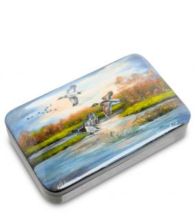 """Шкатулка """"Утки на озере"""" (ручная работа) от 8 100 руб"""