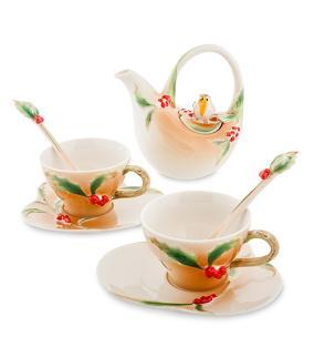 """Чайный набор """"Снегири"""" (на 2 персоны) от 3 780 руб"""