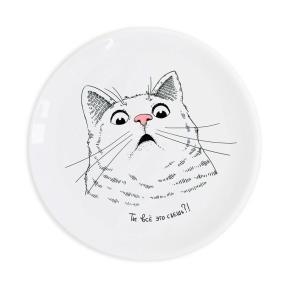 """Тарелка """"Котик говорит: Ты всё это съешь?"""" от 1 250 руб"""