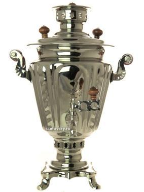 """Жаровой самовар на дровах 2,5 литра никелированный """"конус"""" от 13 900 руб"""