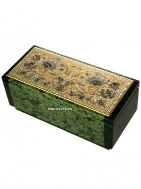 "Шкатулка ""Цветы"", 155*70*55 см, Златоуст от 15 900 руб"