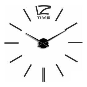 Большие 3D часы самоклеющиеся, черные от 1 644 руб
