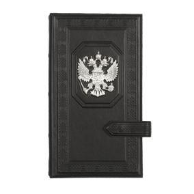 Визитница настольная «Государь» с посеребренным орлом от 6 100 руб