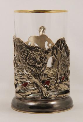Набор для чая с подстаканником Волки от 8 800 руб