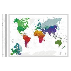 Скретч-карта мира A1 - 84 х 60 см (SILVER) от 890 руб