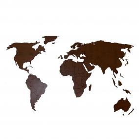 Деревянная карта мира Premium, 120х60 см (орех) от 1 490 руб