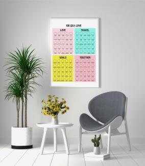 """Постер для влюбленных """"100 дел Love"""" А1 в тубусе от 990 руб"""