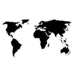 Деревянная карта мира 80х40 см (черная) от 1 190 руб