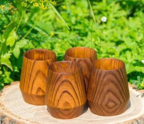 Набор стопок из дерева «Сибирская сосна» от 1 980 руб
