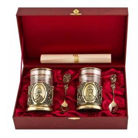 """Подарочный набор для чая с подстаканниками """"Князь и Княгиня"""" (на 2 персоны) от 13 800 руб"""