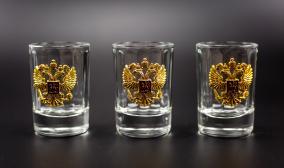 Подарочный набор граненых стопок «Российский-3» от 2 560 руб